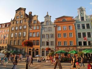 Buildings in Gdańsk harbour.