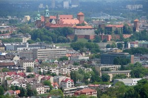 Kraków city centre.