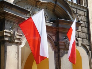 Polish national flag.