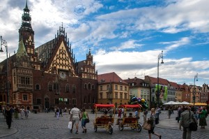 An old town of Wrocław.